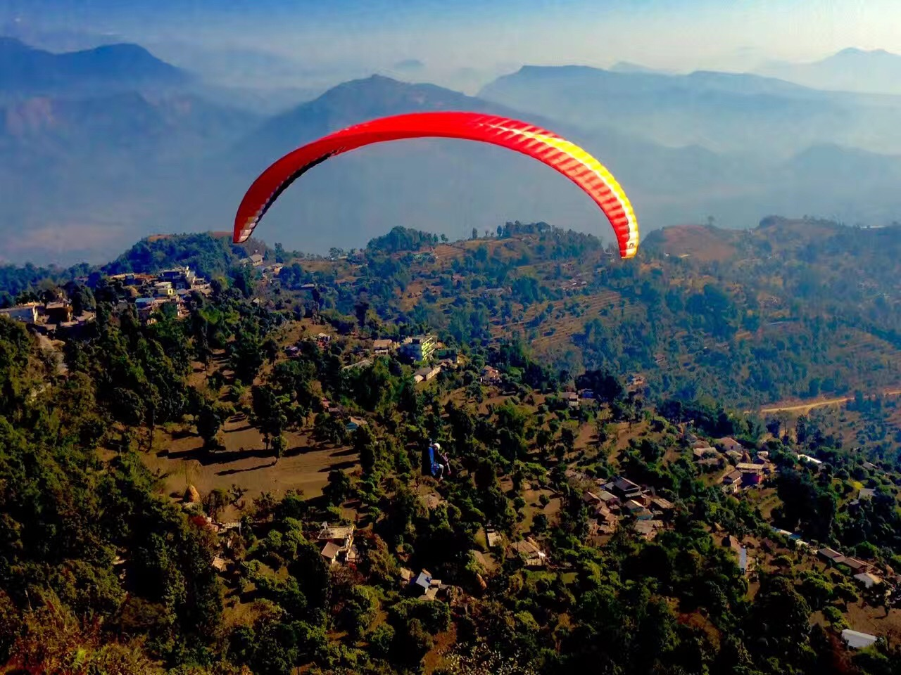 Paragliding in Pokhara - Nepal Alibaba Treks and Tours Pvt Ltd